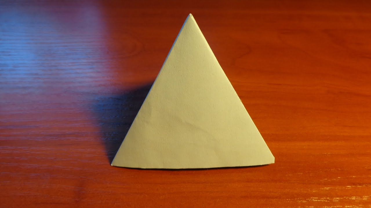 Оригами пирамида схема