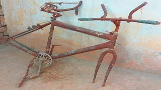 Very Old and Rusted Broken Bicycle Restoration - Restore Rusty Bike