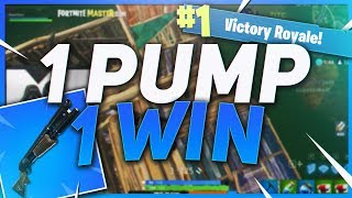 TSM Hamlinz - ONE PUMP ONLY CHALLENGE!! NO OTHER WEAPONS NEEDED (Fortnite BR Full Game)