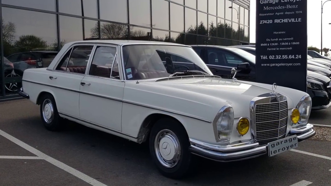 Mercedes 250 s type w108 youtube for Garage agree mercedes