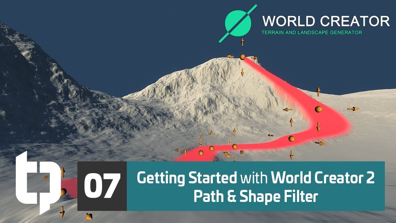 07 | Getting Started with World Creator 2 | Path & Shape Filter