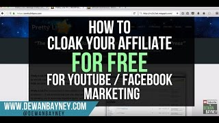 How To Cloak Your Affiliate Links For Free - For Facebook / Youtube Marketing