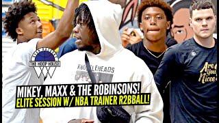 Mikey Williams Gets Advice From NATE Robinson & Hoops w/ Nahmir Robinson & Max Is Nicee!