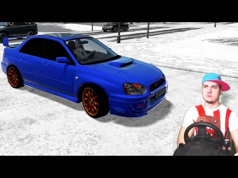 City car driving subaru impreza wrx sti