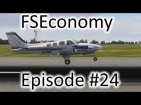 FSX | FSEconomy - Ep. #24 - Myrtle Beach to Charlotte | Baron 58