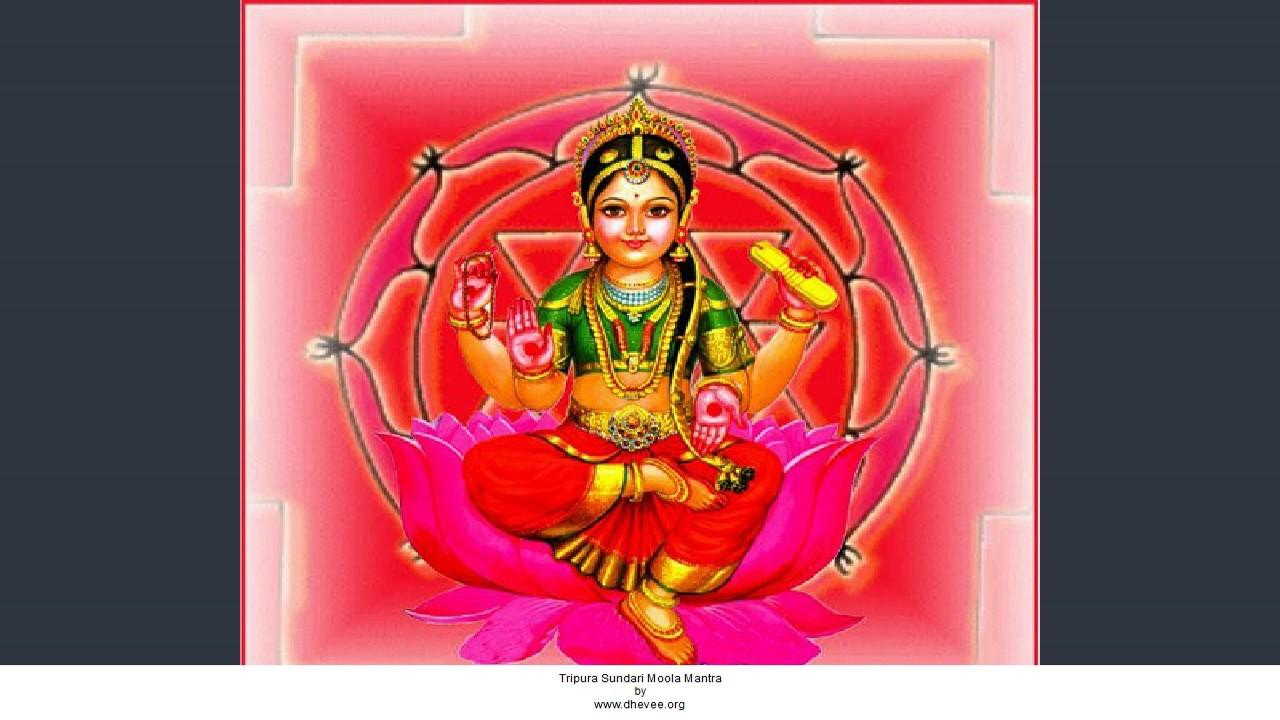 Tripura Sundari Moola Mantra - Dhevee org