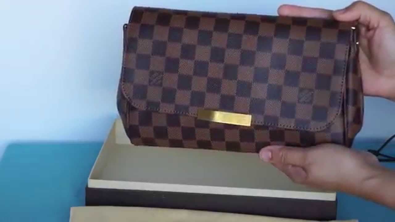 8fc3c5eeac8e Louis Vuitton Favorite MM in Damiere Ebene unboxing - YouTube