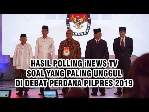 Hasil Akhir Polling iNews TV soal yang Paling Unggul di Debat Perdana, Jokowi-Ma'ruf Menang Tipis