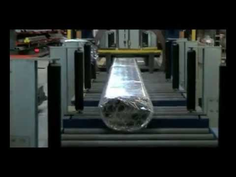 Pipe horizontal stretch wrapper packing machine