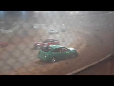 Australia day 2020 demolition derby at archerfield speedway. - dirt track racing video image