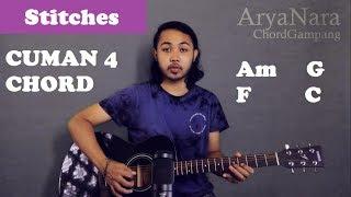 Chord Gampang (Stitches - Shawn Mendes) by Arya Nara (Tutorial Gitar) Untuk Pemula