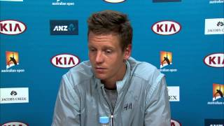 Tomas Berdych press conference (SF) - Australian Open 2015