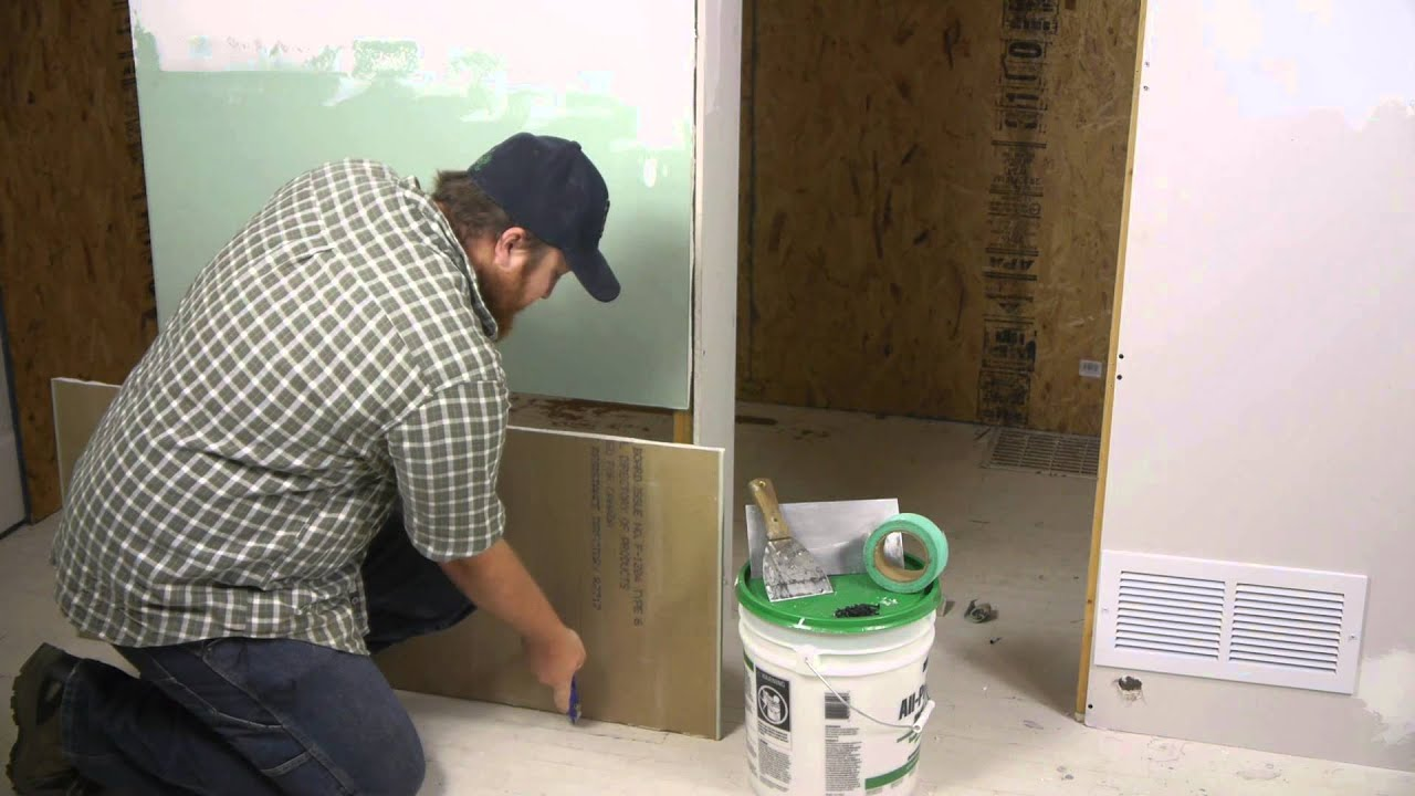 Bathroom Wall Repair How To Replace Rotting Drywall Repairing Walls Youtube