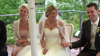 Hochzeit in 4K. The Wedding. Eine schöne Braut und ein eleganter Bräutigam.