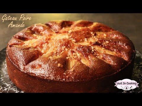 recette-de-gâteau-moelleux-poire-amande