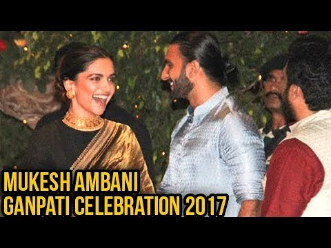 Ranveer Singh Deepika Padukone Attend Mukesh Ambani Ganpati Celebration Together