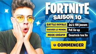 "I'm THE NEW SAISON ""X"" of Fortnite! NEW SAISON COMBAT PAS 10!"