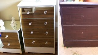 DIY MIRROR DRESSER | EXTREMELY CHEAP FURNITURE REVAMP 2017