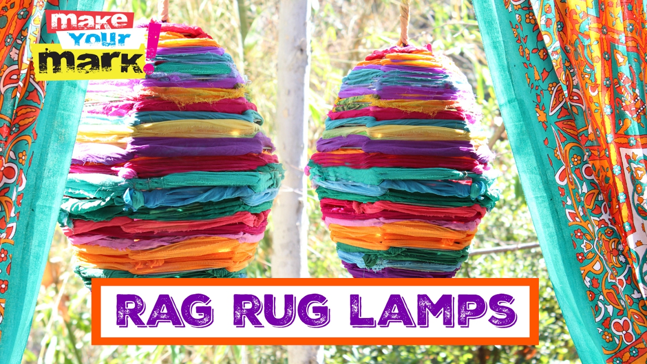 How to: Recycled Rag Rug Lamps - YouTube