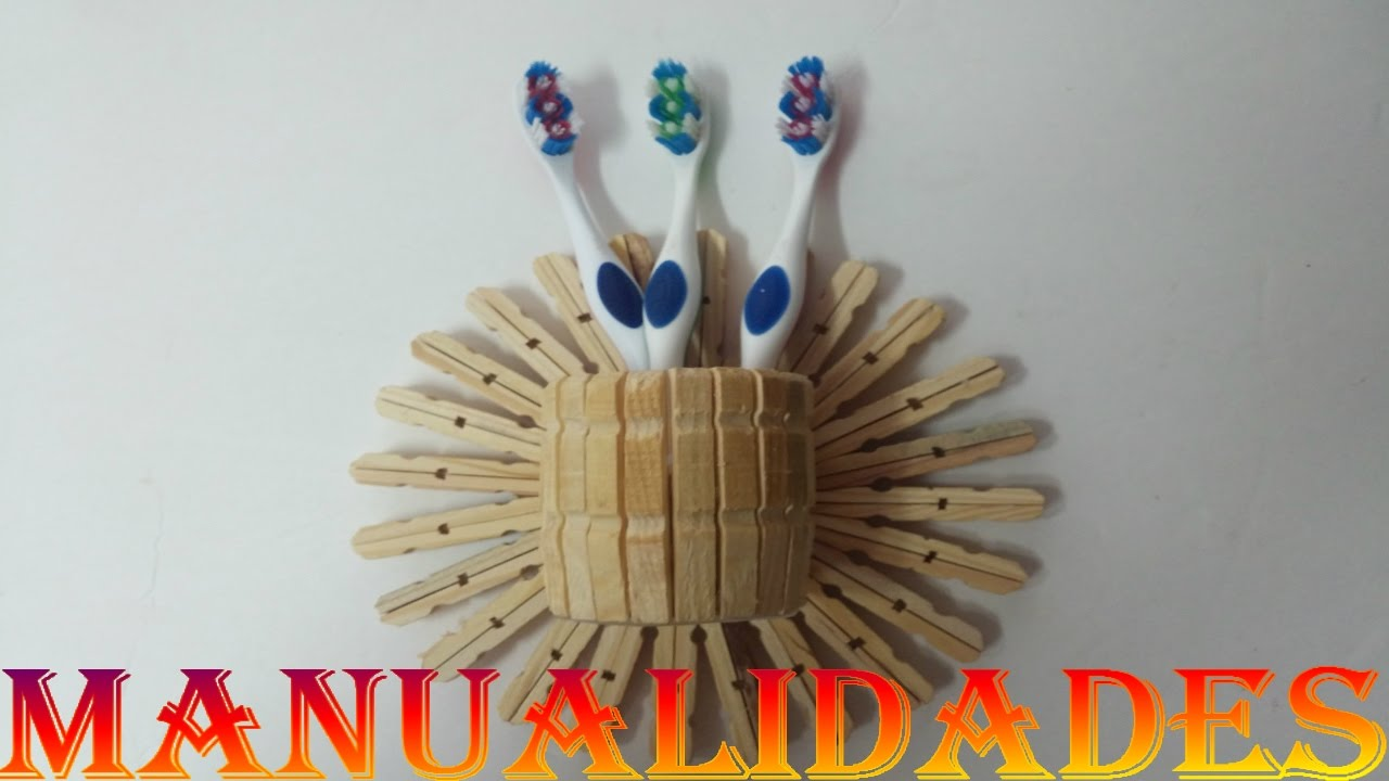 Manualidades pinzas de madera cepillera youtube for Manualidades decorativas para la casa