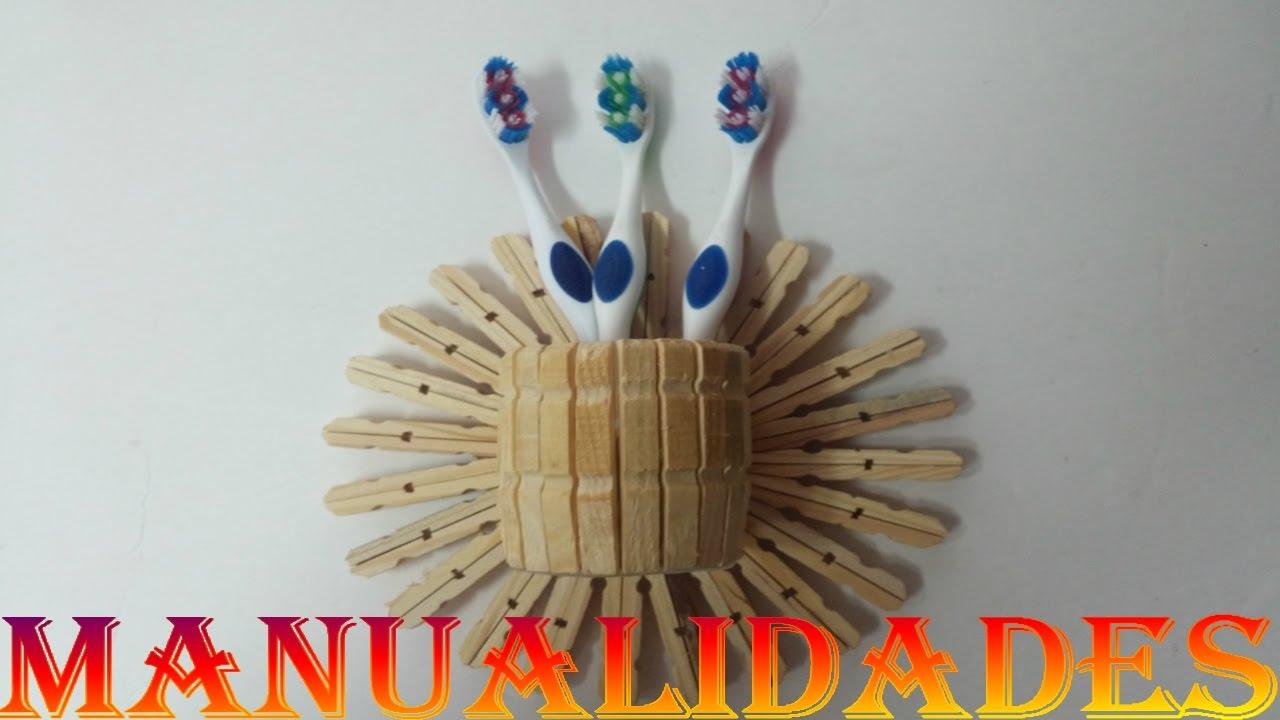 Manualidades pinzas de madera cepillera youtube - Hacer manualidades con madera ...