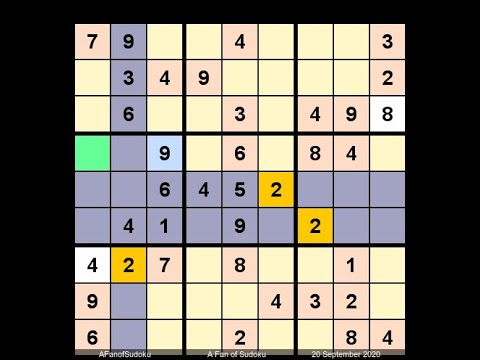How to Solve Washington Post Sudoku L5 September 20, 2020