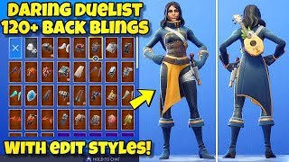 "NEW ""DARING DUELIST"" SKIN Showcased With 120+ BACK BLINGS! Fortnite Battle Royale (NEW KNIGHT SKIN)"