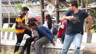 Scaring People Prank- Funny Prank Fails   Baap Of Bakchod   Raj And Sid