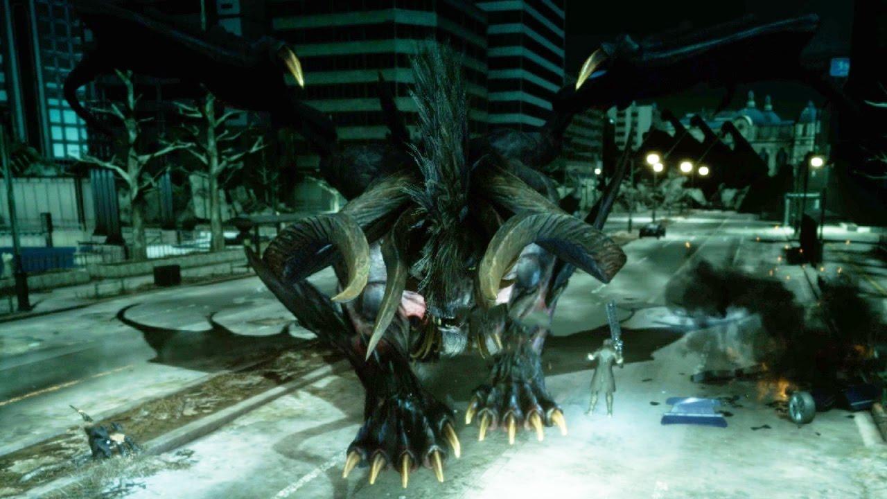 Final Fantasy 15: Behemoth King Boss Fight (1080p 60fps ... Behemoth Final Fantasy 15