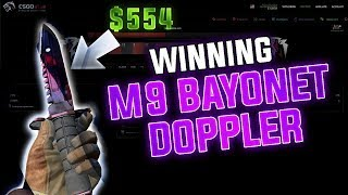 Winning a M9 Doppler (CSGO Gambling) Video