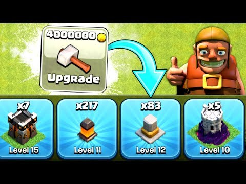 THESE UPGRADES ARE SO EXPENSIVE!! - Clash Of Clans - THE FINAL FEATURE TO MAX!