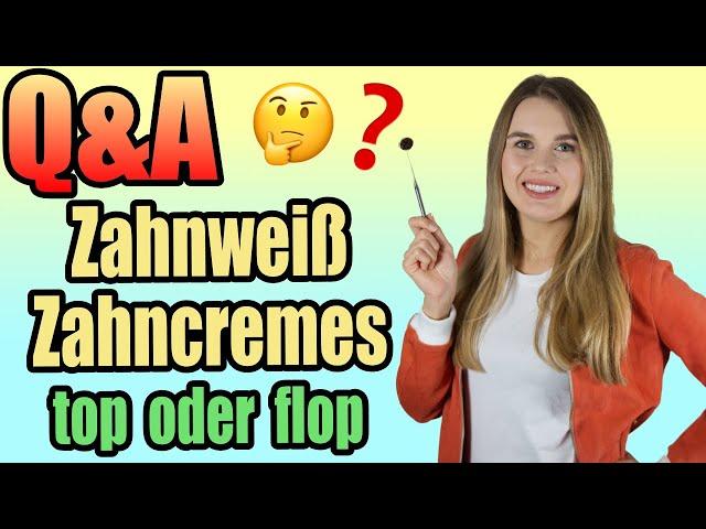Q&A | Zahnweiß Zahncremes | schön oder schädlich❓😈  | DoctorAmi