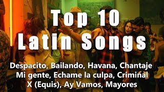 Top 10 Latin Songs 2019 (Lyrics / Letra), Top 10 Latin Music, Latin Hits 2019. Channel Latin Music