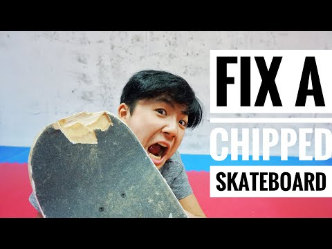 Fix a chipped skateboard or Longboard deck