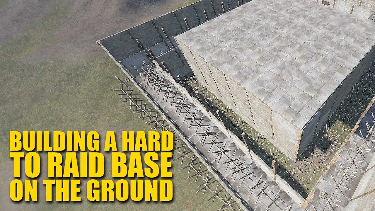 Rust for dummies how to build a hard to raid base on for Best house designs rust