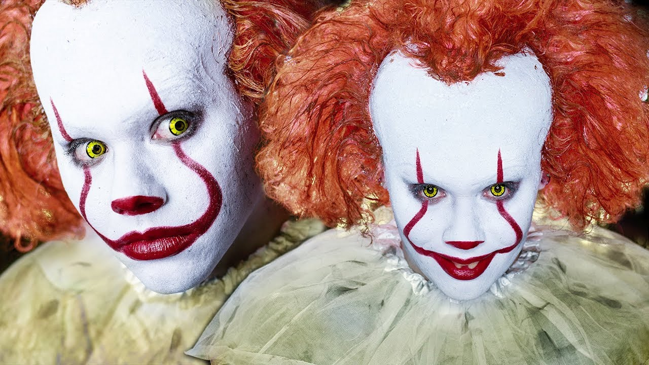 """IT """"Pennywise the clown"""" Halloween Makeup Tutorial ..."""