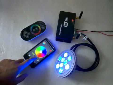 Wifi Led Controller Controlled By Touch Remote Android