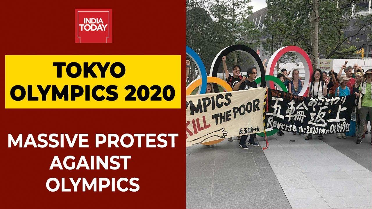 В Токио проходят протесты против Олимпиады