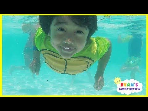 kids-playtime-at-the-pool-and-water-slide!-family-fun-vacation-at-resort-hotel