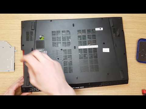 MSI GP72 2QE LEOPARD PRO MS -1793 disassemble to clean cooling system