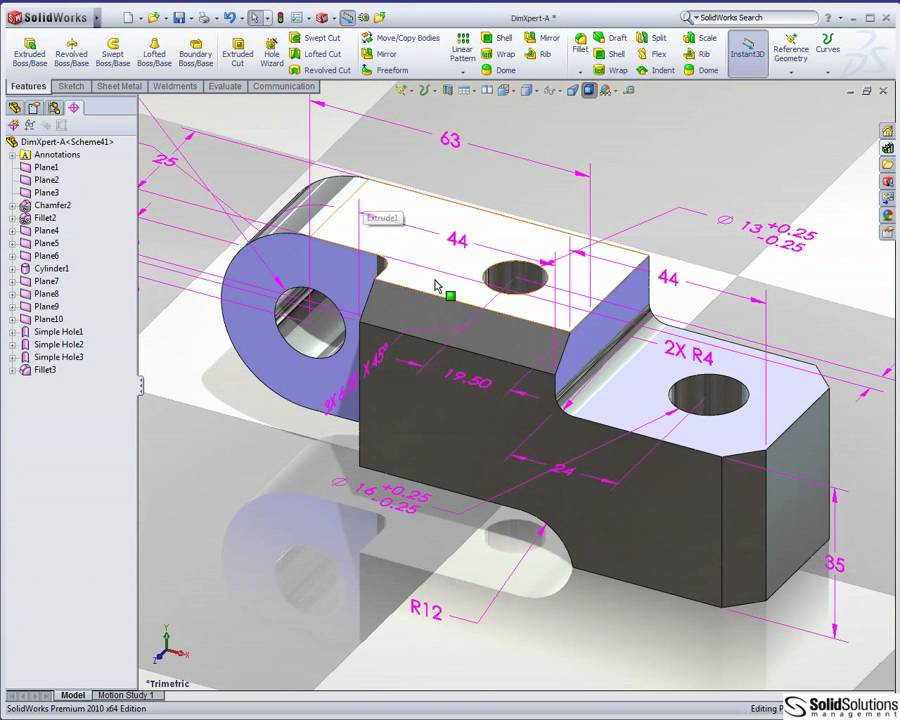 automatic dimensioning and tolerancing in solidworks youtube