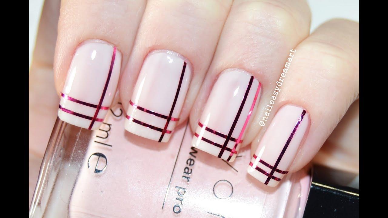Дизайн ногтей лентой скотч