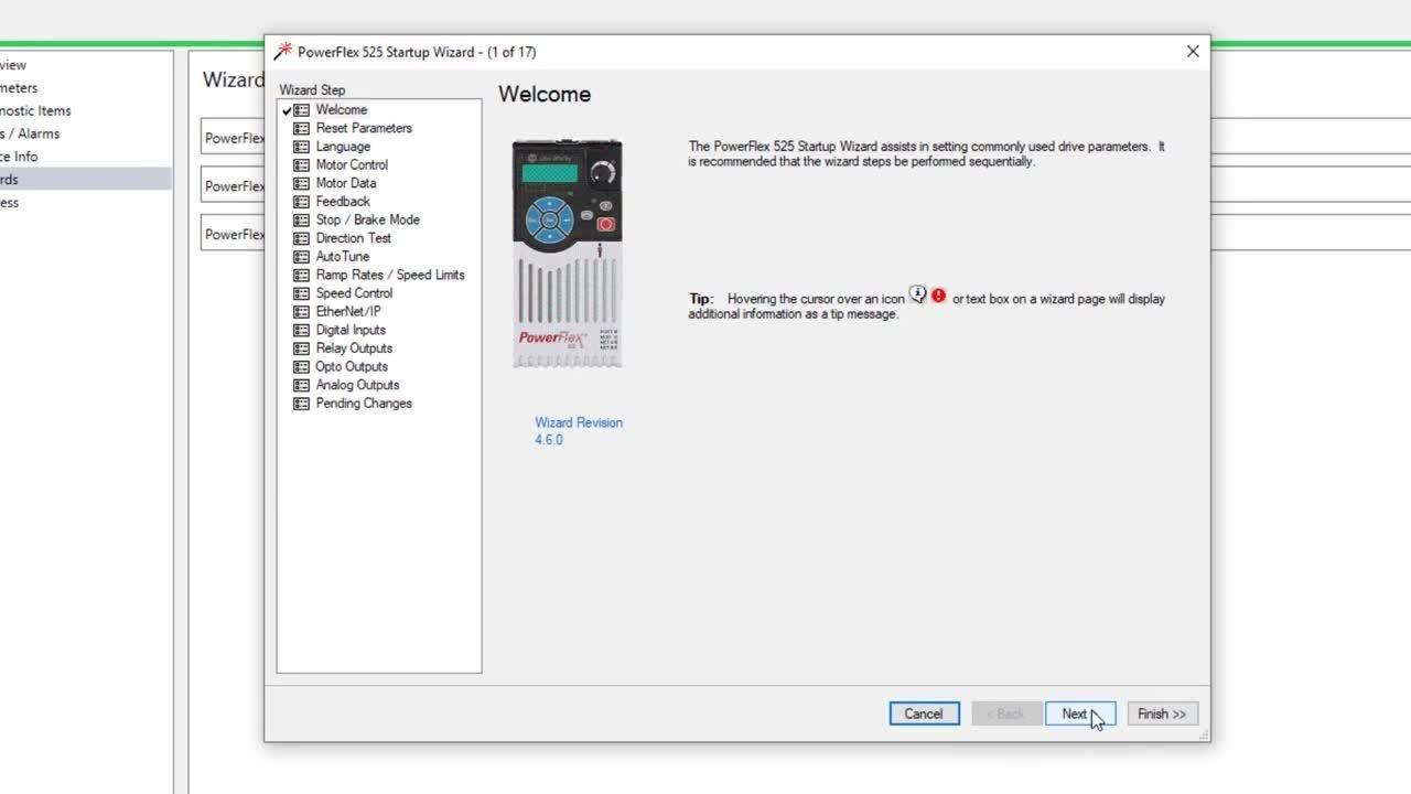 PowerFlex AC drive - How to configure a PowerFlex 525 drive