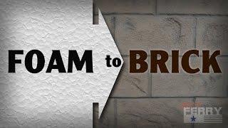 Ⓕ How To Make Styrofoam Look Like Brick (ep65)