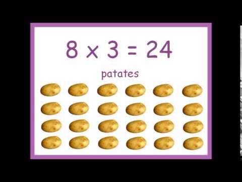 Table de multiplication par 8 en chanson youtube - Chanson table de multiplication ...