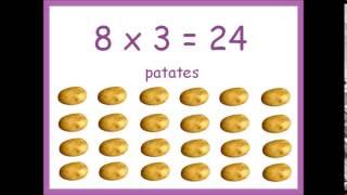 table de multiplication par 8 en chanson