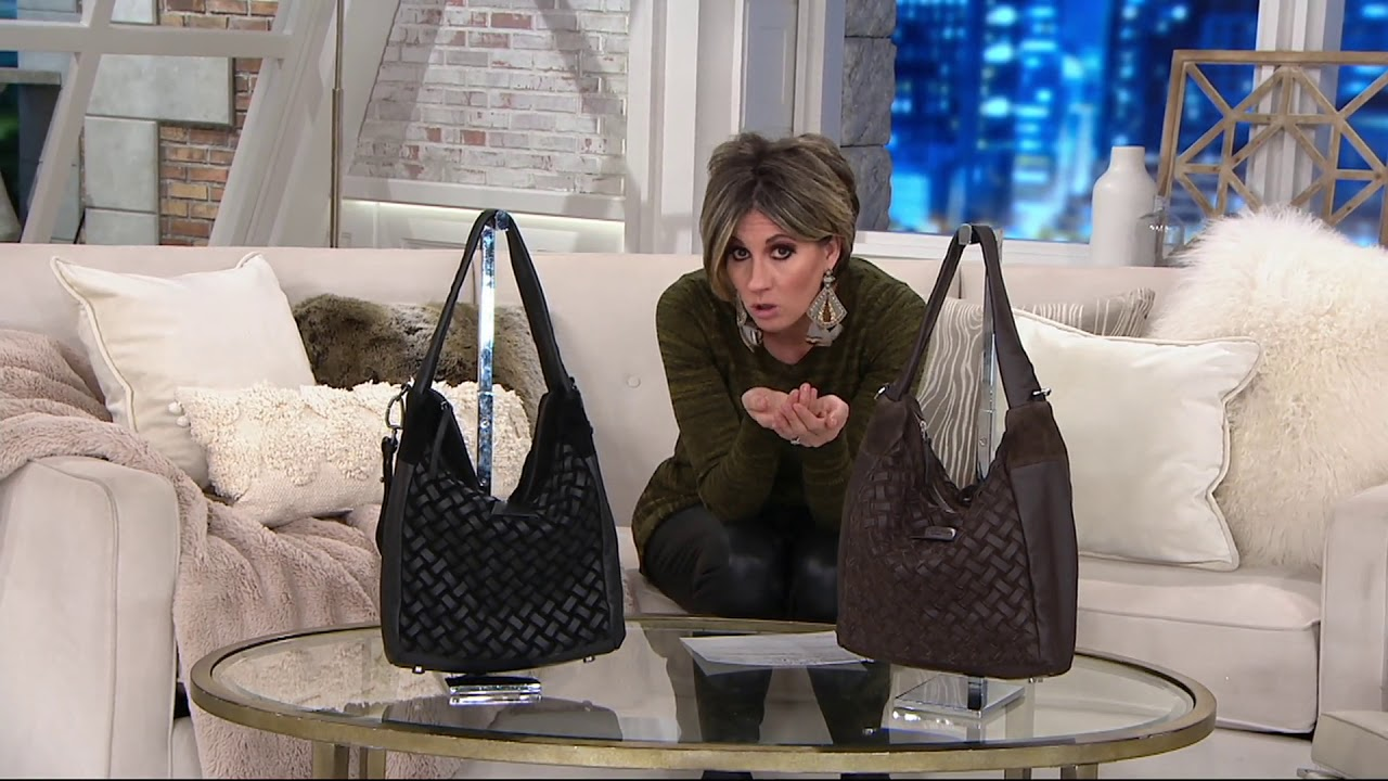 0ecdb348c Liebeskind Leather & Suede Woven Hobo- Bedford on QVC - YouTube