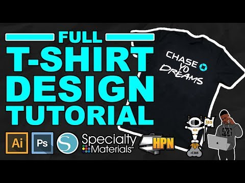 Make CUSTOM T-shirts From Scratch (Using Thermoflex Heat Transfer Vinyl HTV By Specialty Materials)