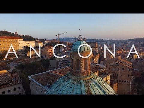 DJI Phantom 3 Standard Drone - Ancona city from above - footage 2.7k in Italy