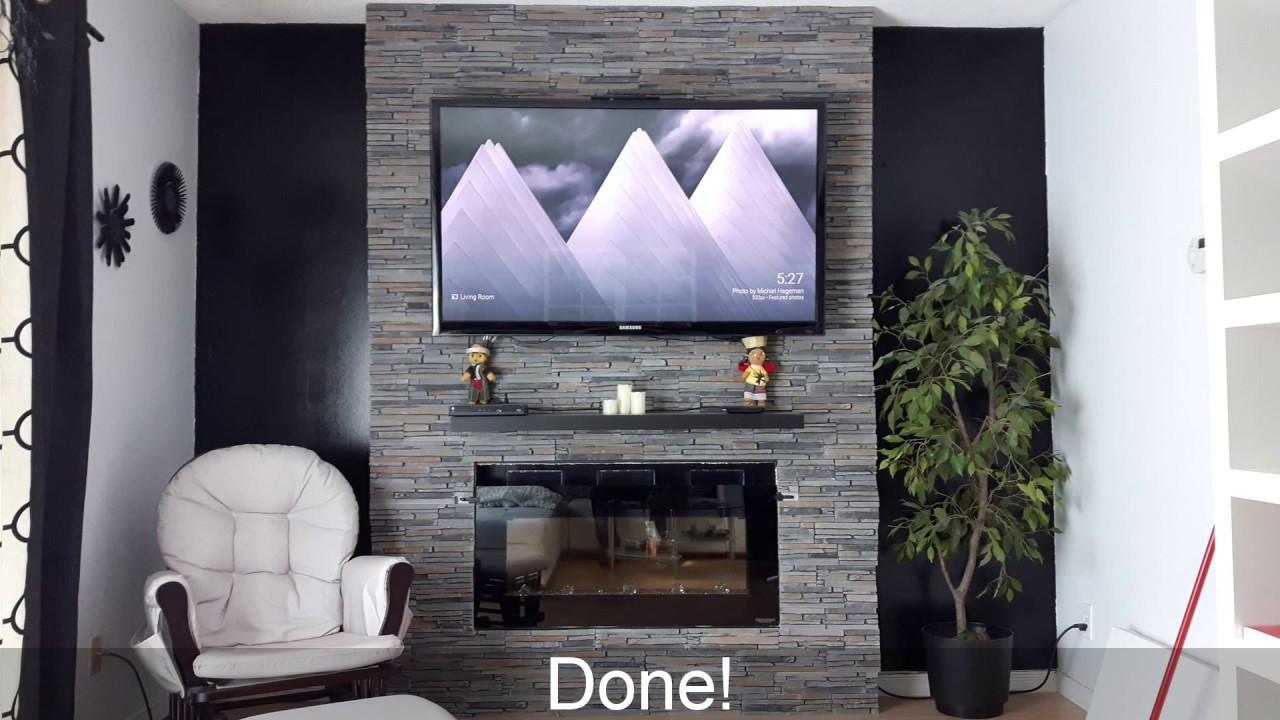 Easy Fireplace Tv Wall